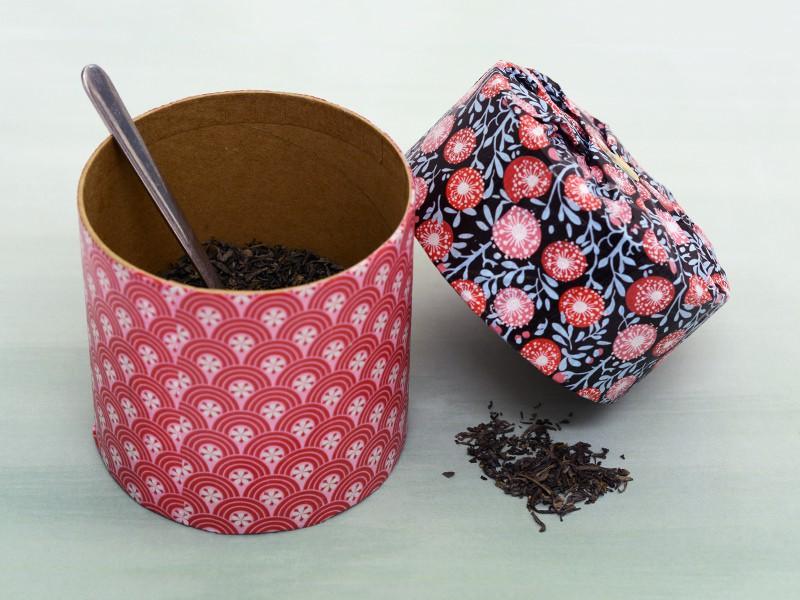 La boîte à thé décorée