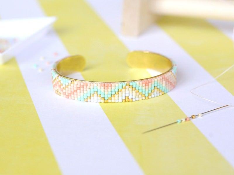 Bracelet manchette en Miyuki