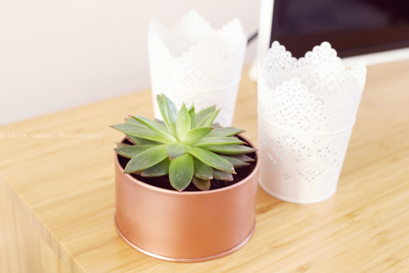 Pot à succulentes couleur cuivre
