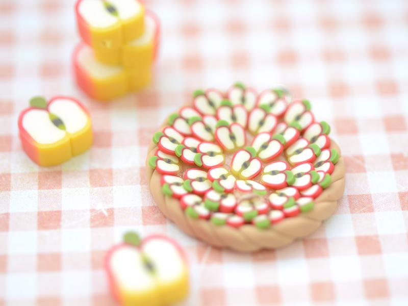 Tuto fimo : La tarte aux pommes