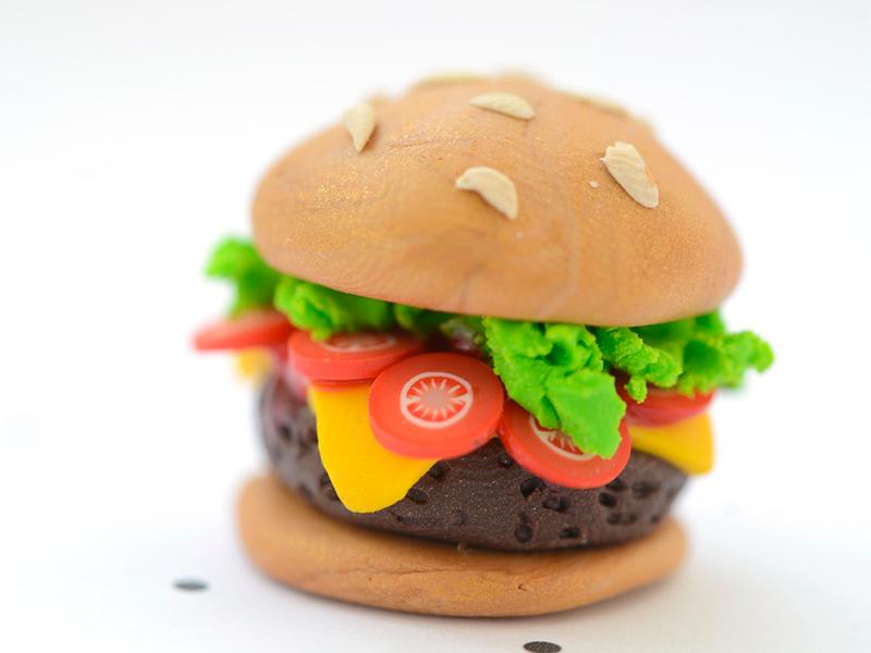 bijou fimo : le burger