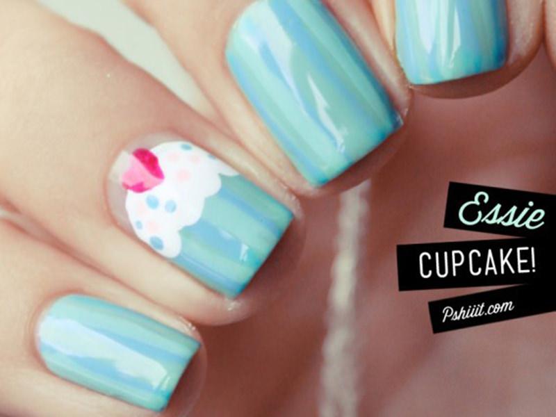 Le nail art Cupcake