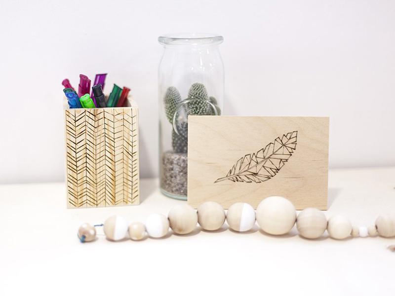 La carte en bois pyrogravée