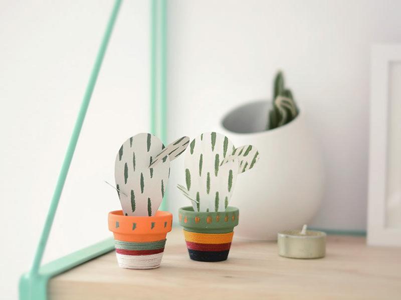 Les cactus en papier