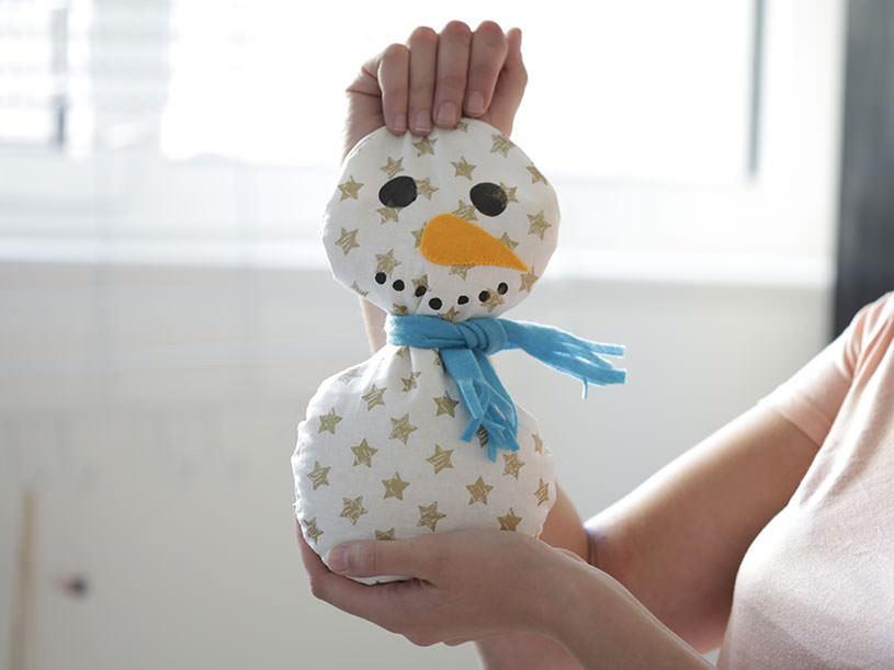La bouillotte bonhomme de neige