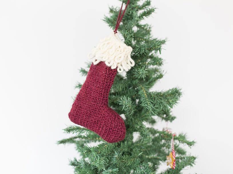 La chaussette de Noël tricotée