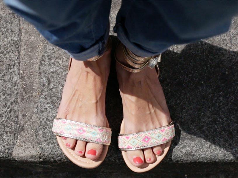 Les sandales customisées avec des perles Miyuki