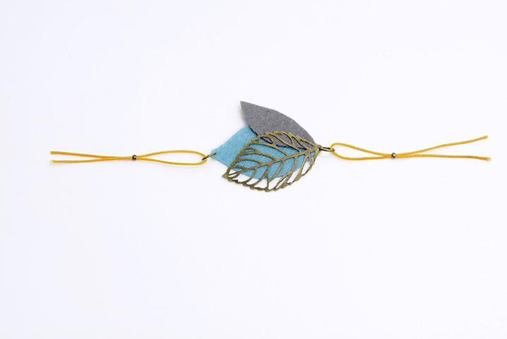 Bracelet à feuilles