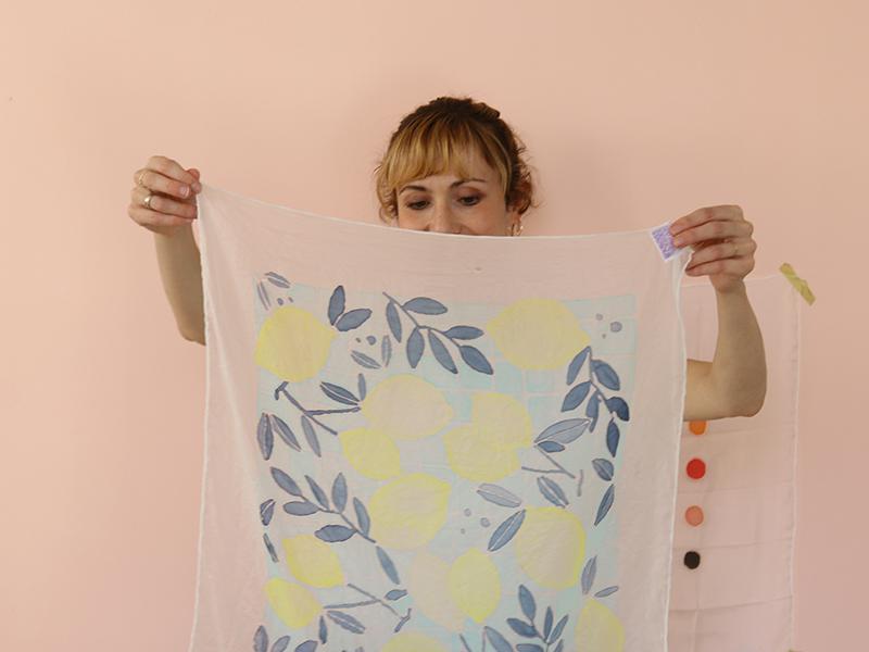 Laissez ensuite sécher le tissu avant de le porter!