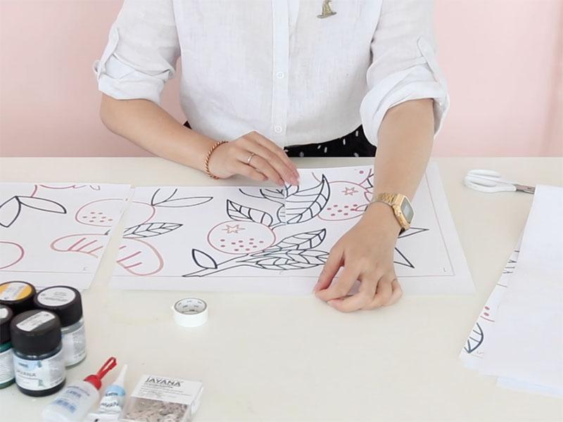 Imprimez un motif pour votre peinture.