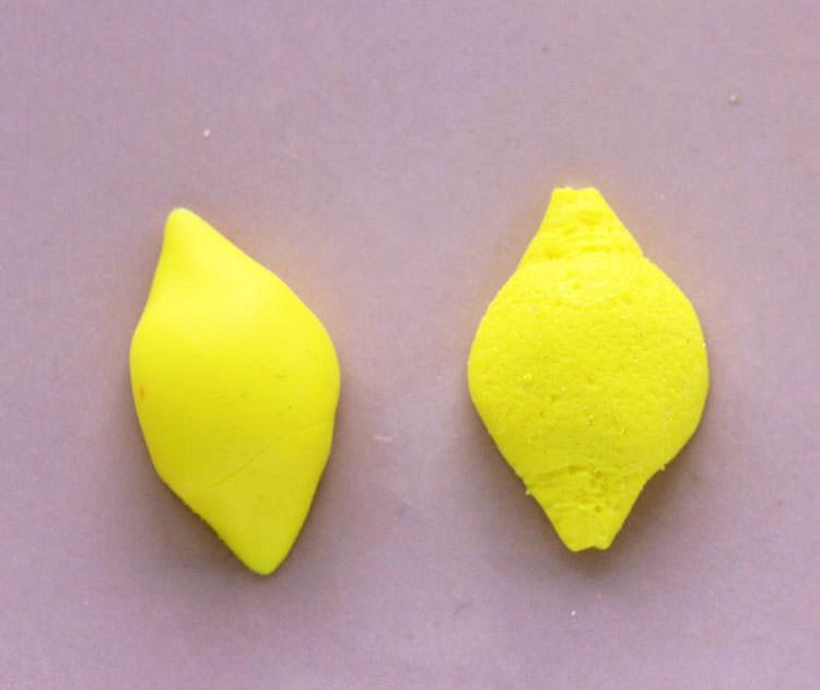 La bague citron en pâte Fimo