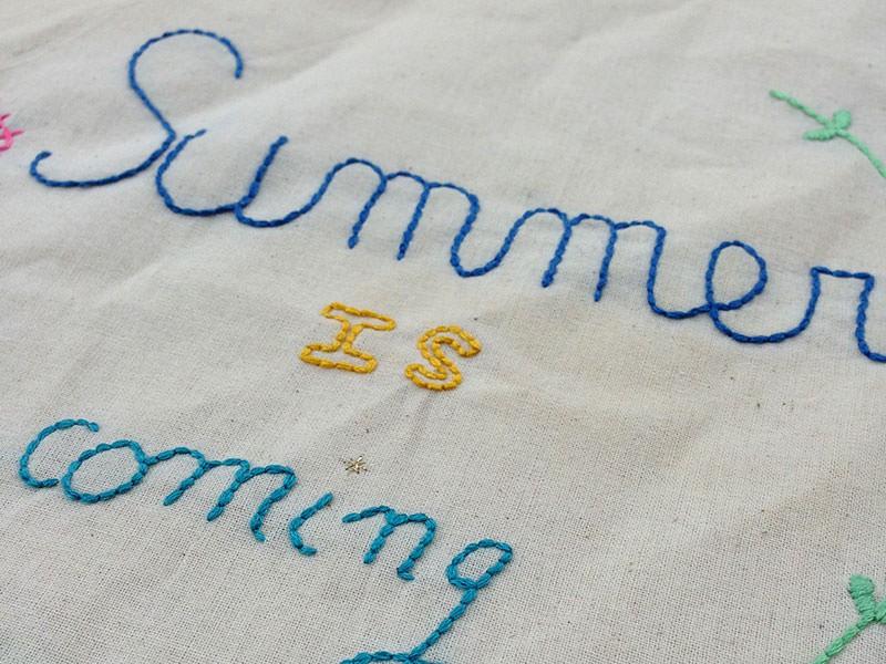 "Le tote bag brodé ""summer"""