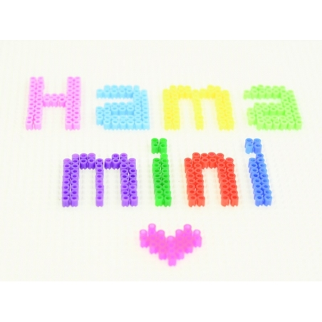 Sachet de 2000 perles HAMA MINI - violet transparent 24