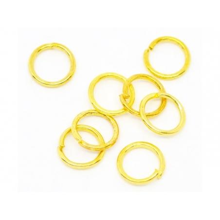 Boite de 7 tailles d'anneaux - couleur dorée  - 2