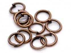 100 anneaux 5 mm cuivrés