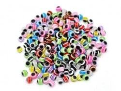 Lot de 20 perles rondes à rayures