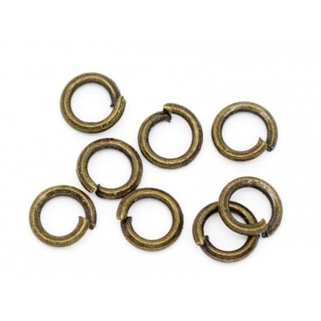 Acheter 100 anneaux 4 mm couleur bronze - 3,60€ en ligne sur La Petite Epicerie - 100% Loisirs créatifs