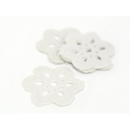 20 mini flower-shaped doilies - 2.2 cm