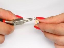 10 eye pins - dark silver-coloured - 25 mm