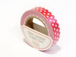 Fabric tape - red and white dots