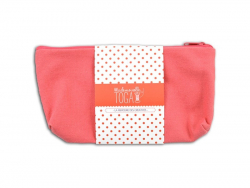 Trousse plate rose - M