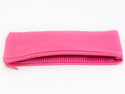 Flaches, rosafarbenes Mäppchen - Größe M