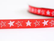 1m ruban satin étoiles -  9 mm
