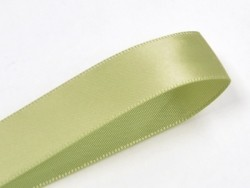1 m ruban satin uni vert olive - 6 mm