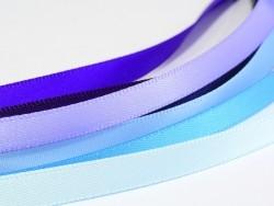 1 m einfarbiges Satinband (6 mm) - hellblau