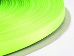 1 m einfarbiges Satinband (6 mm) - neongrün