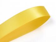1 m ruban satin uni jaune - 6 mm