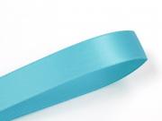 1 m ruban satin uni bleu - 6 mm