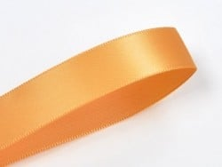 1 m ruban satin uni orange pâle - 6 mm