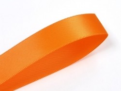 1 m ruban satin uni orange - 6 mm