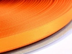 1 m ruban satin uni orange - 6 mm