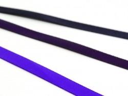 1 m ruban satin uni violet foncé - 6 mm