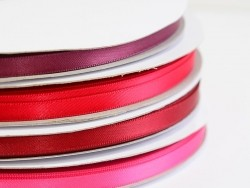 1 m ruban satin uni rouge - 6 mm