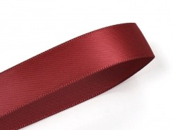 1 m ruban satin uni bordeaux - 6 mm