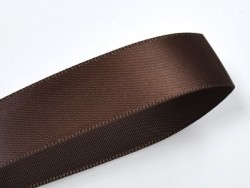 1 m ruban satin uni chocolat noir - 6 mm  - 1