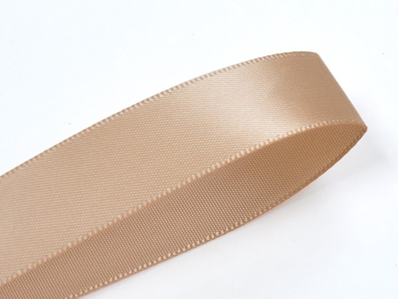 1 m of satin ribbon (6 mm) - white coffee