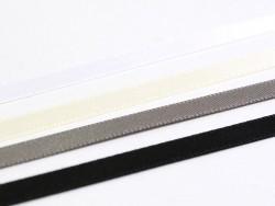 1 m of satin ribbon (6 mm) - beige