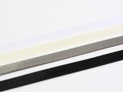 1 m einfarbiges Satinband (6 mm) - grau