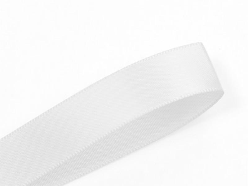 1 m ruban satin uni blanc - 6 mm