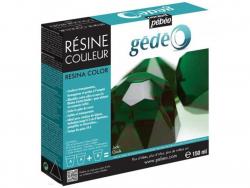 Résine colorée - Vert Jade - gédéo 150 ml