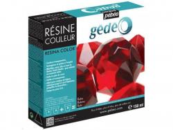 Résine colorée - Rouge Rubis - gédéo 150 ml