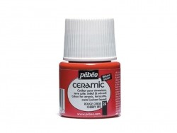 Ceramic paint - cherry red