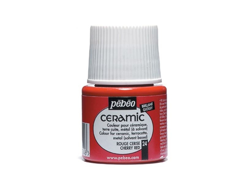 Ceramic paint - cherry red