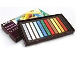 Coffret 12 pastels secs - couleurs assorties