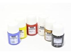 Set de 6 pots de peinture pour céramique / 20mL  - 1