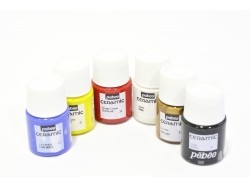 Set of 6 ceramic paint jars (20 ml each)